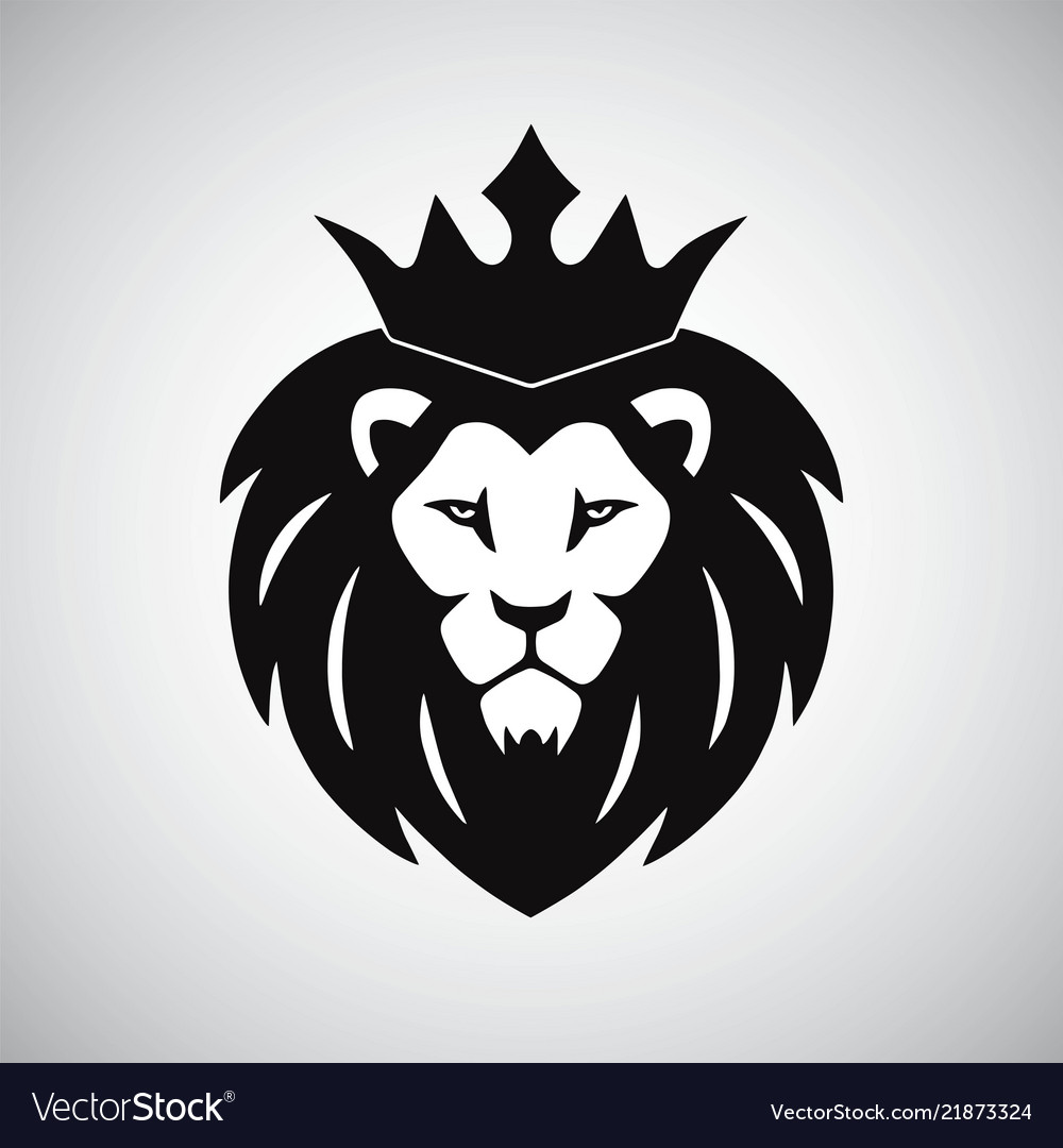 Lion king with crown logo.