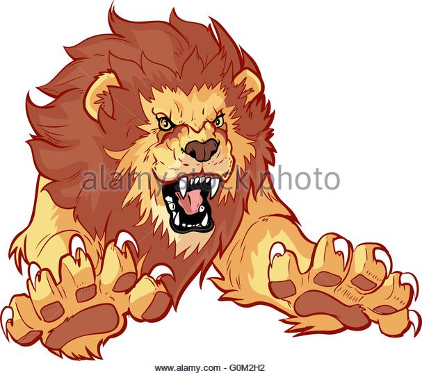 Lion Roaring Stock Vector Images.