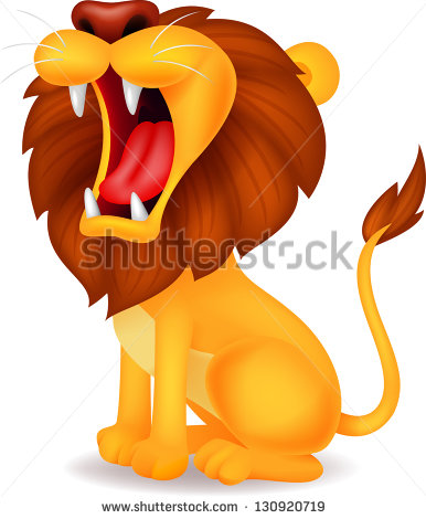 Lion With Mouth Open Stock Images, Royalty.