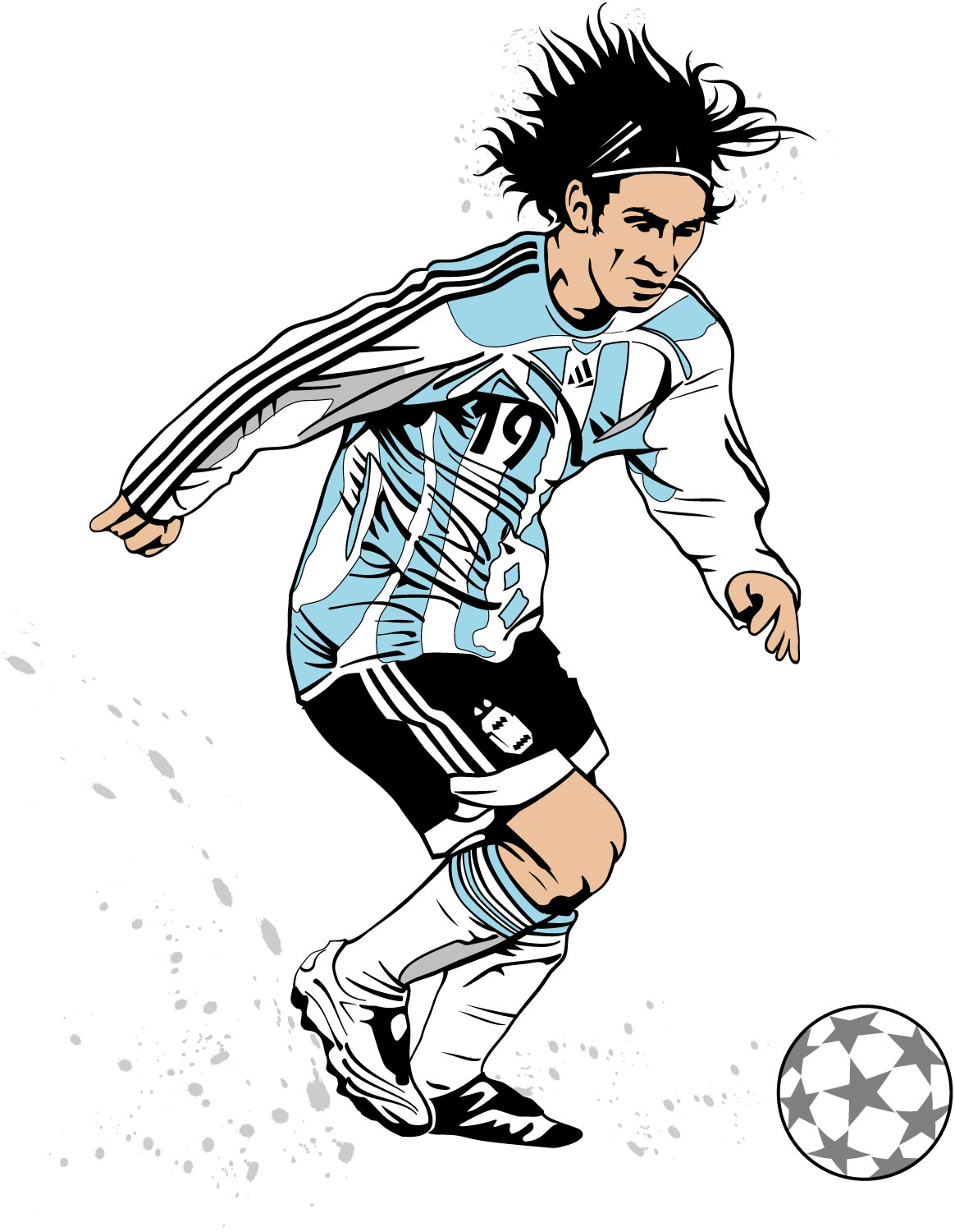 Clipart Football Player Messi.