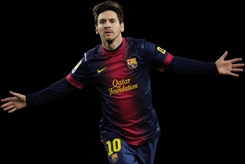 Lionel Messi Barcelona transparent PNG.