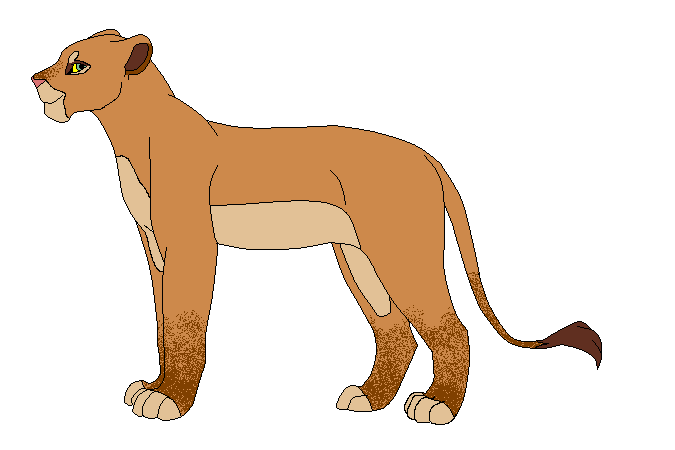 Lioness Clipart.