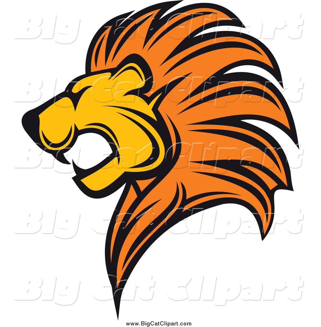 Lion head clip art images.