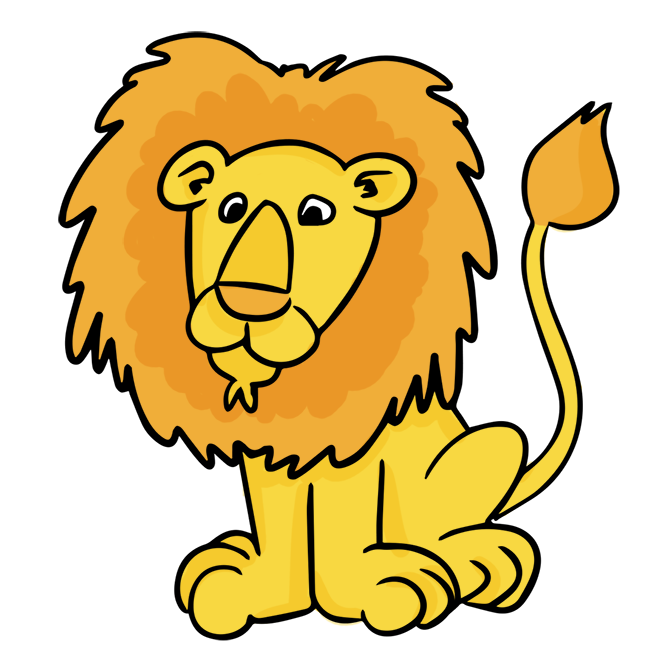 lion and elephant clipart #6