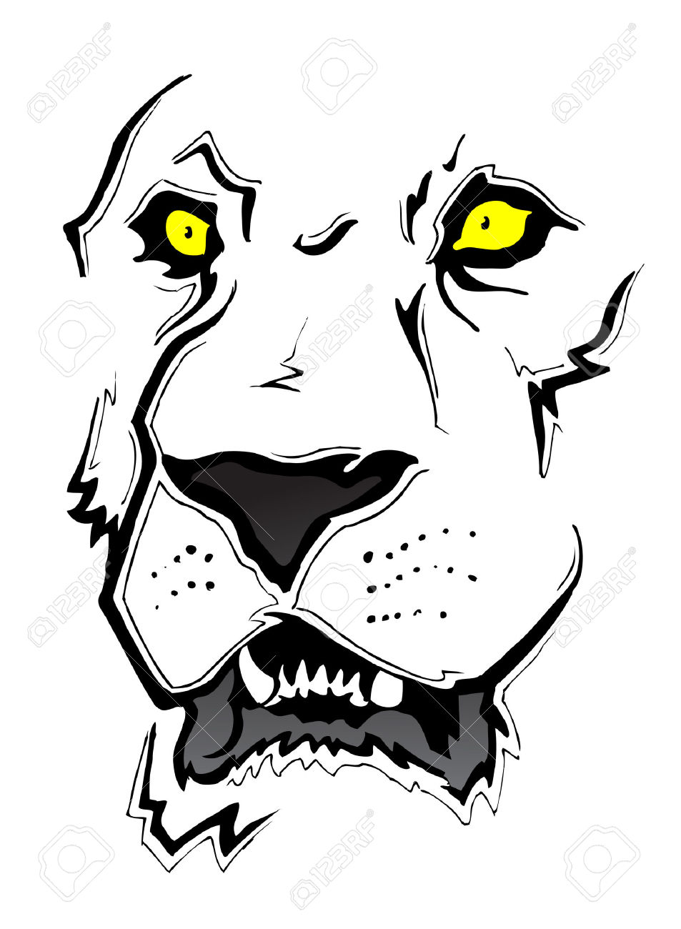 Lion Face Sketch Royalty Free Cliparts, Vectors, And Stock.