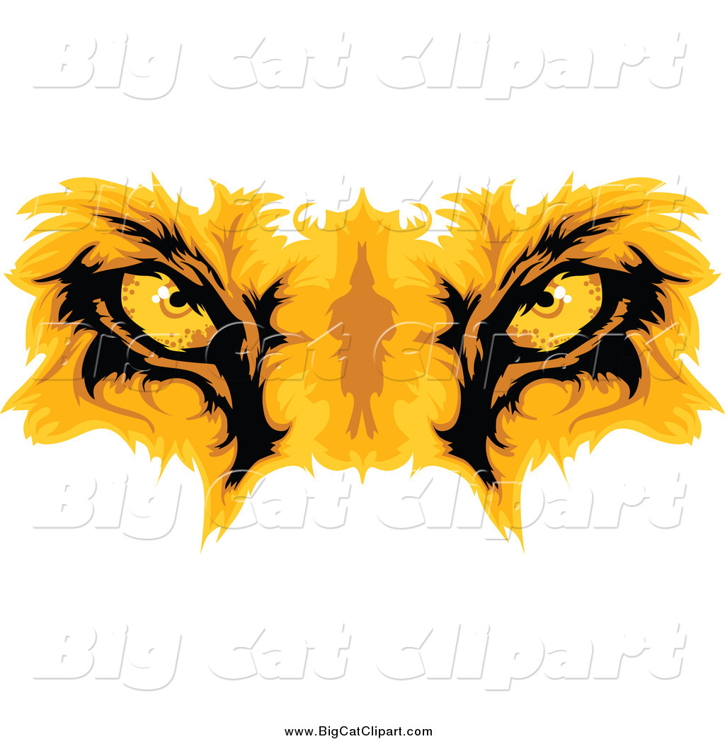 Royalty Free Stock Big Cat Designs of Lions.