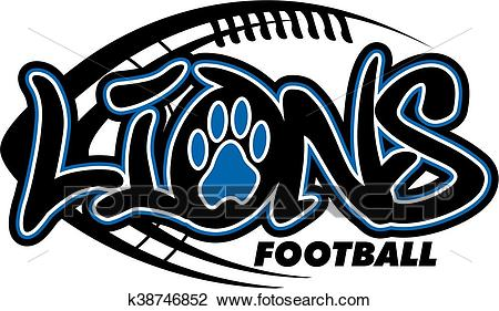 Lions football Clipart.