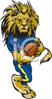 Lion Football Clipart & Free Clip Art Images #3621.