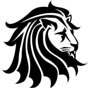 Lion head clipart free.