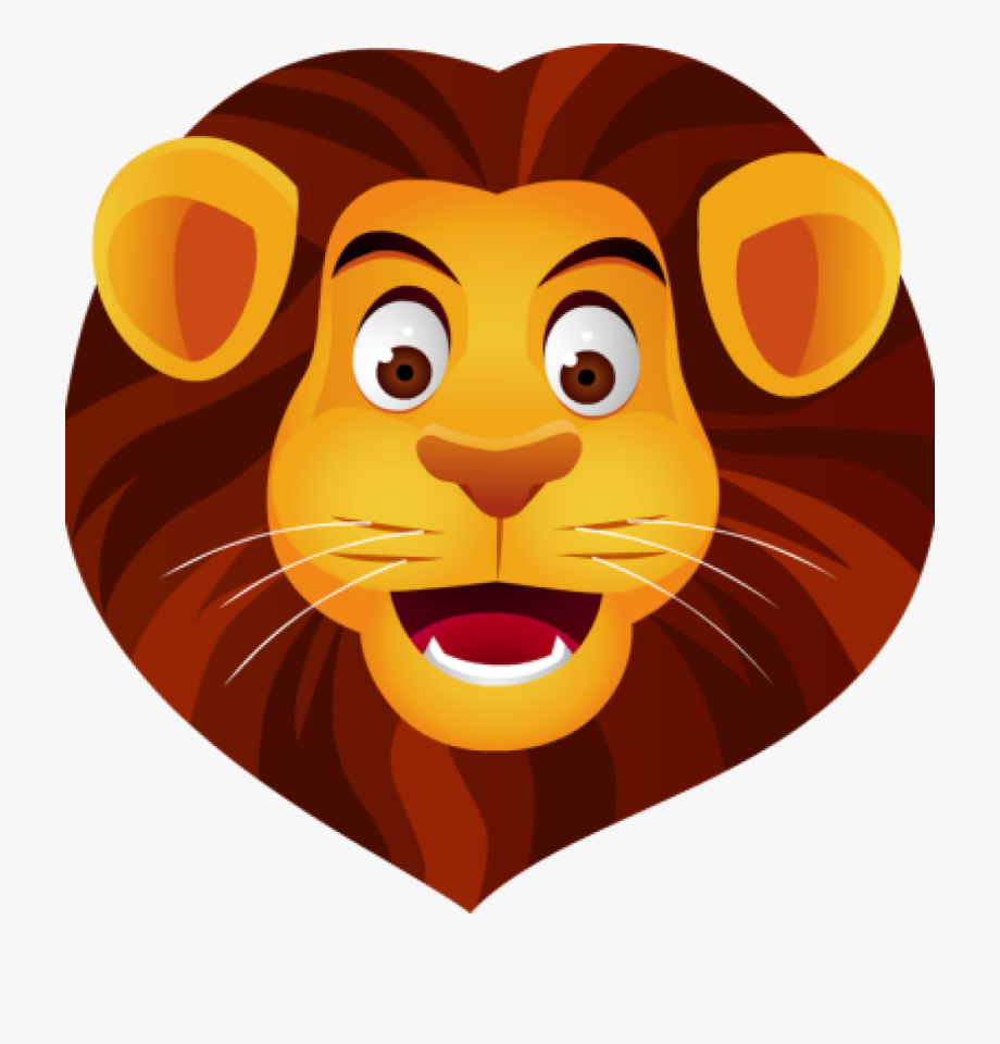 Free Clip Art Lion Head Vector And Ⓒ.
