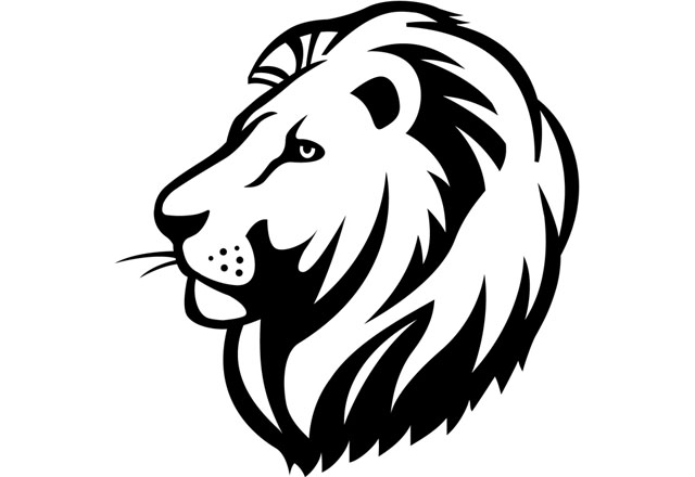 Clipart lion head.