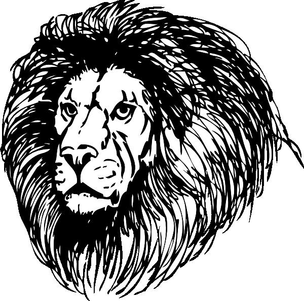 Lion With Large Mane Clip Art at Clker.com.