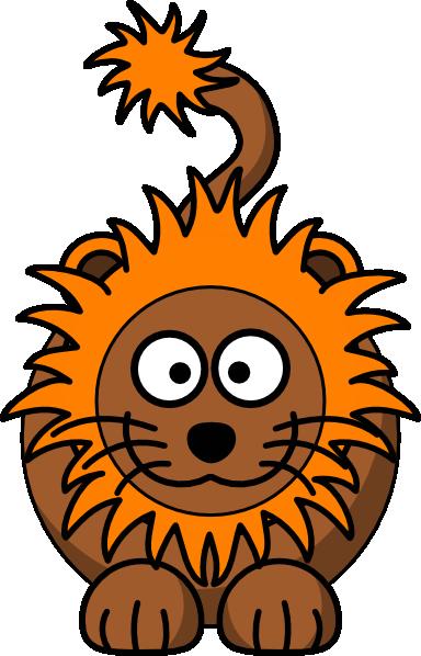 Cartoon Lion With Orange Mane Clip Art at Clker.com.