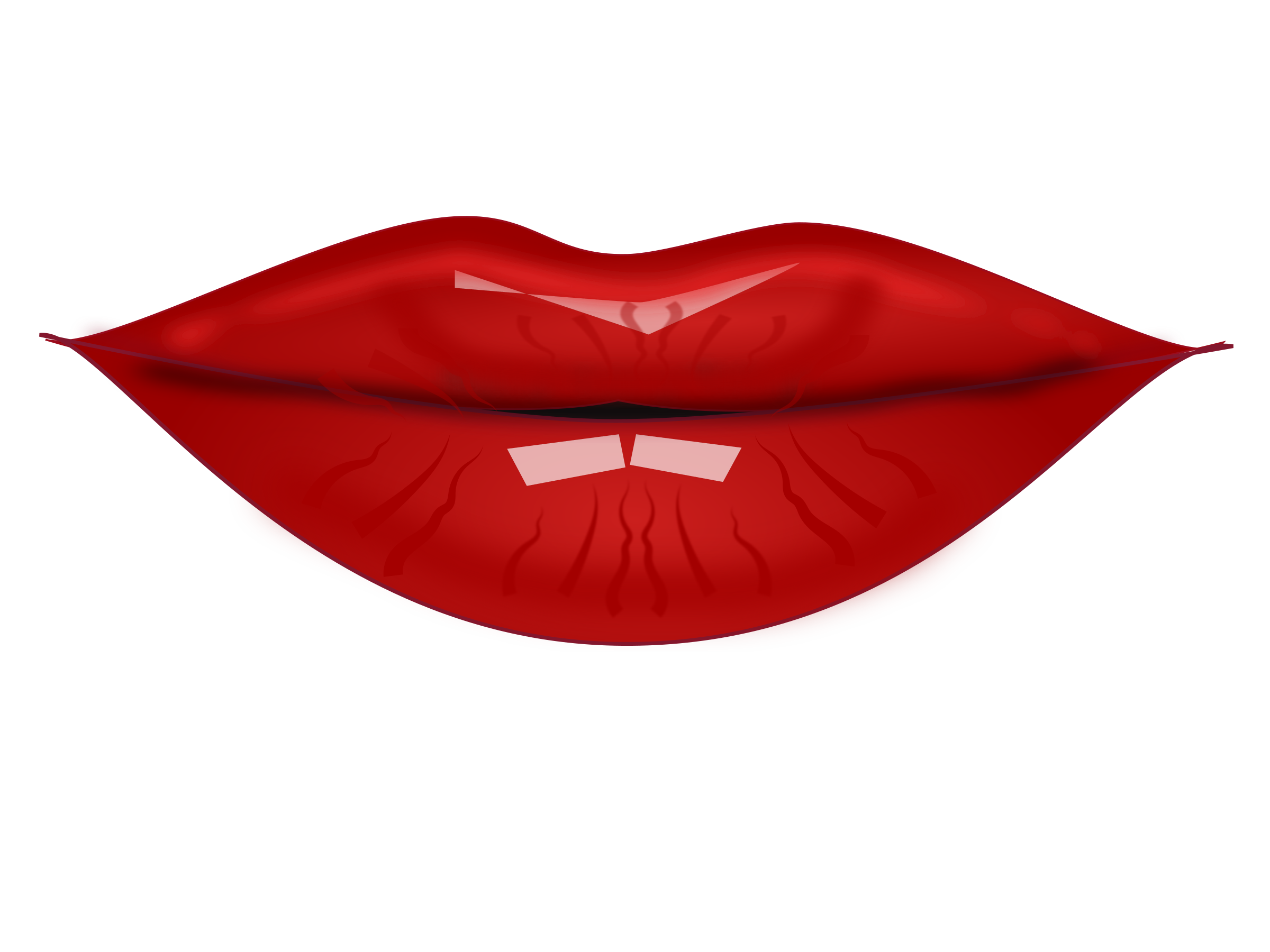 Red lip clipart.