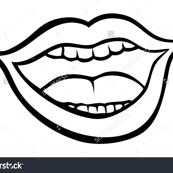 28 Collection Of Open Mouth Clipart Black And White High.