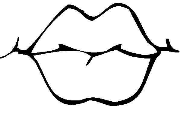 Lip clipart black and white 2 » Clipart Station.