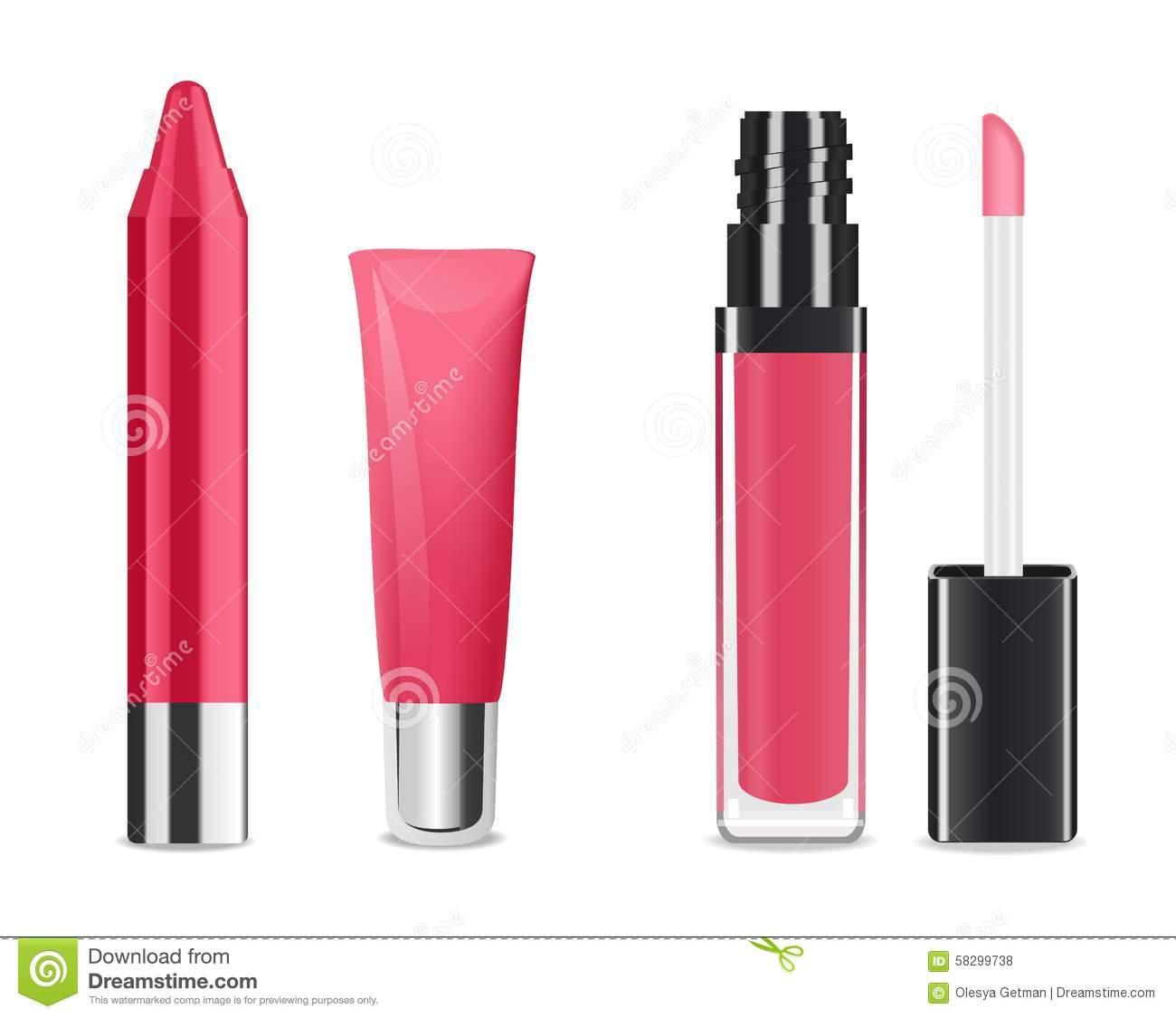 Lip Gloss Stock Illustrations.