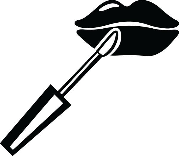 Lip gloss clipart.