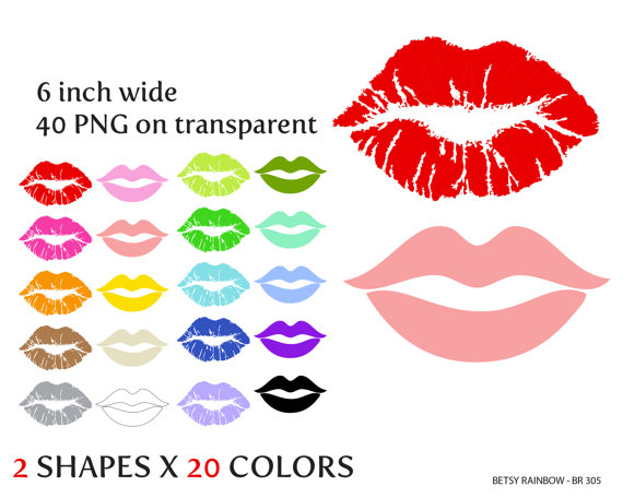 Lips cliparts PNG lips clip art kiss clipart by BetsyRainbow.