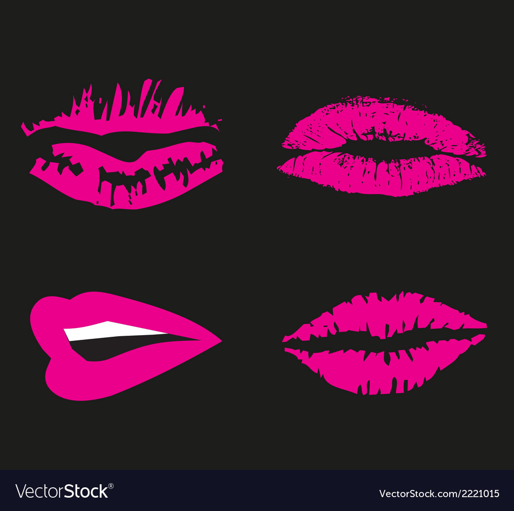 Pink Lips logo icon symbol free.