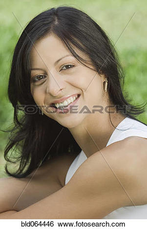 Stock Images of Smiling Hispanic woman with lip ring bld064446.