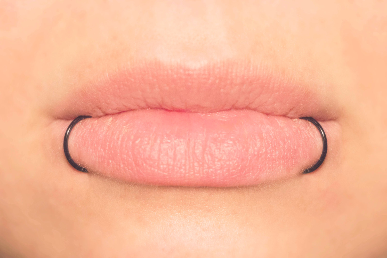 Fake Lip Ring Snake Bites Lip Cuffs NO PIERCING REQUIRED.