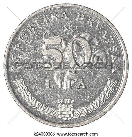 Stock Image of 50 croatian lipa coin k24039385.