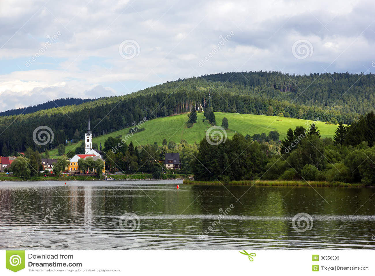 Frymburk At Lipno Lake In Czech Republic. Stock Photos.