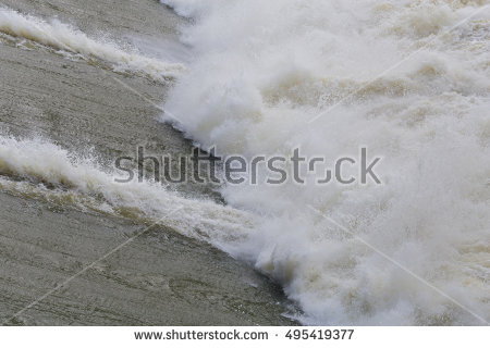 Overflow Dam. Stock Photos, Royalty.