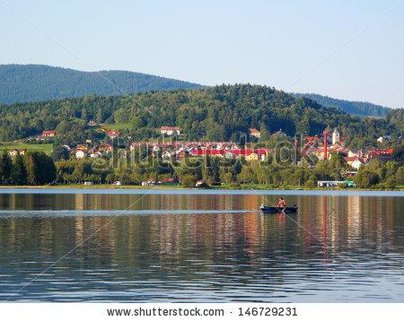 View On Small Town Horni Plana Stock Photo 146729231.