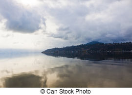 Stock Photographs of Lake in overcast weather..
