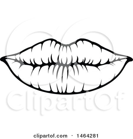 Lip clipart black and white 1 » Clipart Portal.