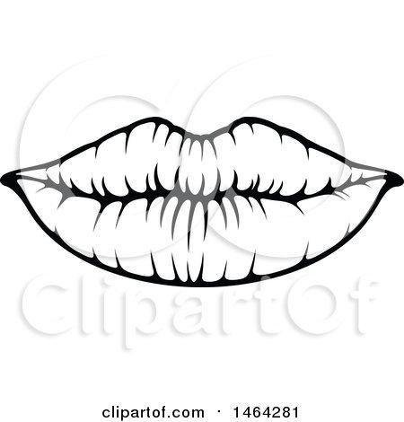 Lip clipart black and white 1 » Clipart Portal.