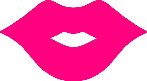 Printable Cartoon Lips Clipart.