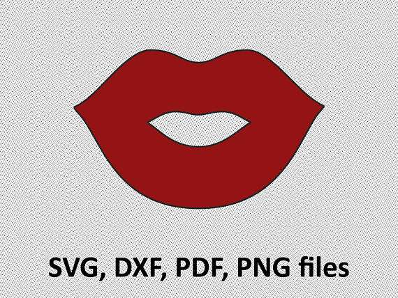 Lips SVG/ Lips DXF/ Lips Clipart/ Svg Files, printing design.