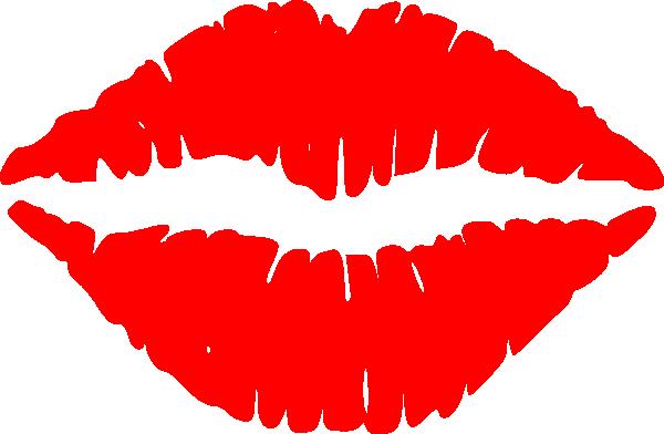 Cartoon Kissing Lips.