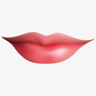 Smiling Kiss Lips Clipart.