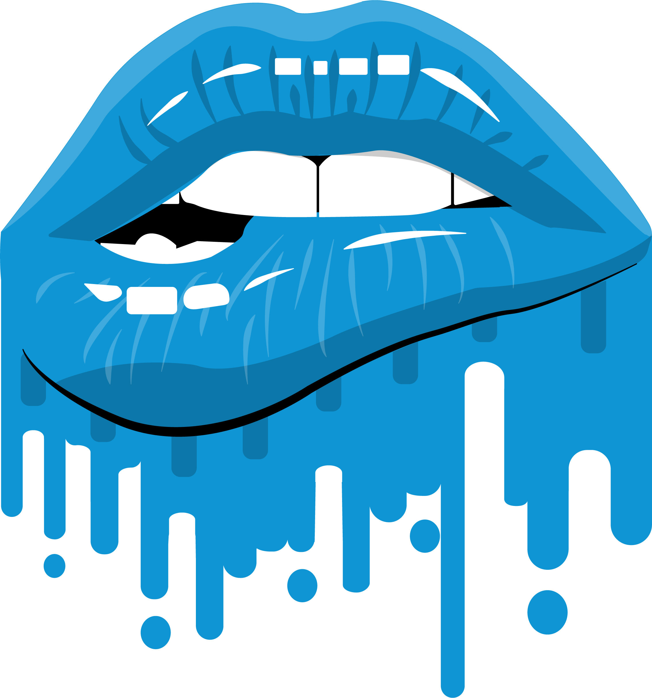Dripping Lips Clipart.