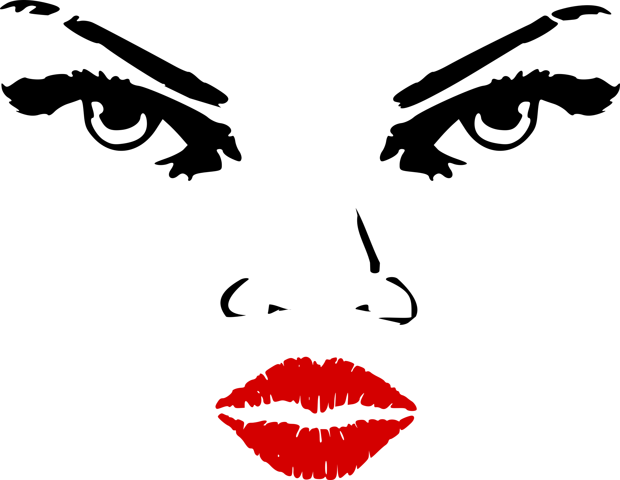 Lips Nose And Eye Clipart.