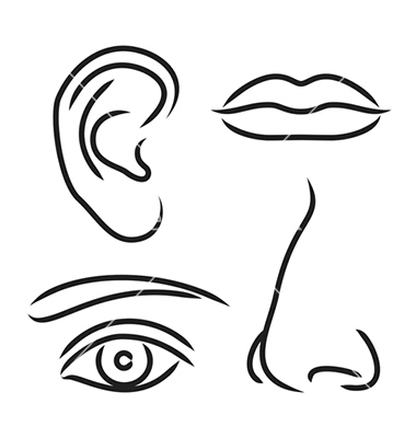 Lips nose and eye clipart clipground for Nose coloring page