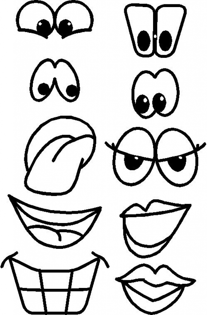 Clip Art Eyes Nose Mouth.