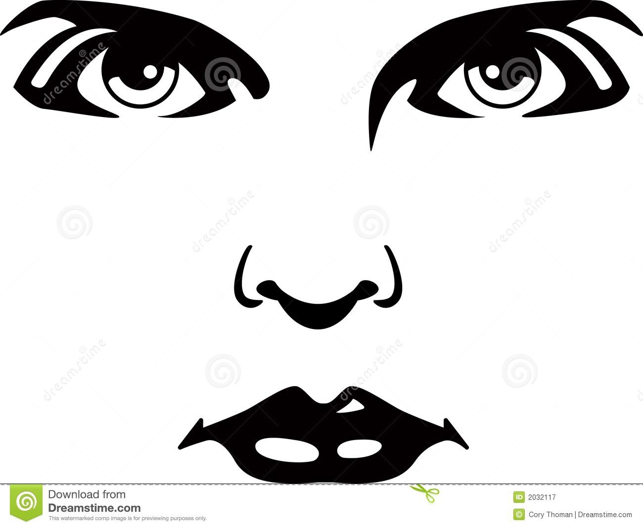 Eyes Nose Lips Clipart.