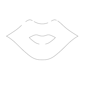Lip Outline clipart, cliparts of Lip Outline free download.