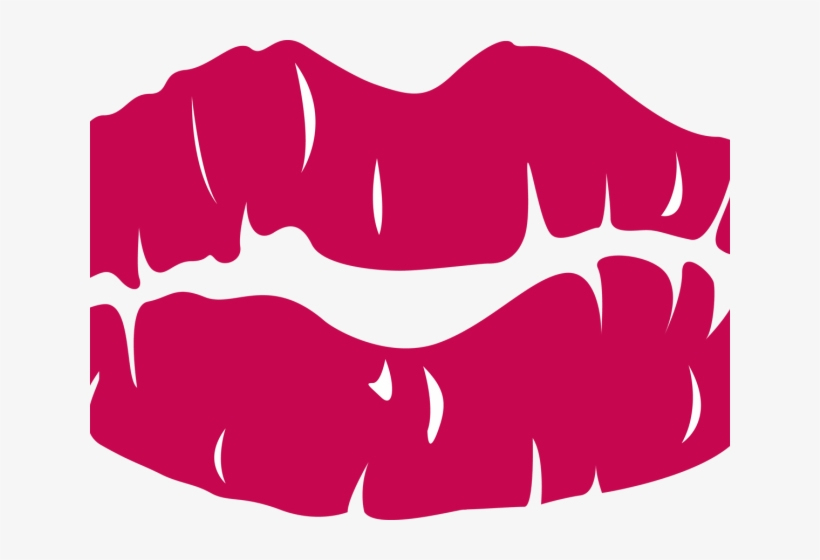 Kissing Clipart Lip Outline.