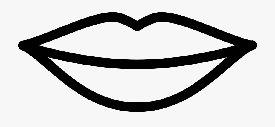 Lip Clipart Black And White Transpa Free.