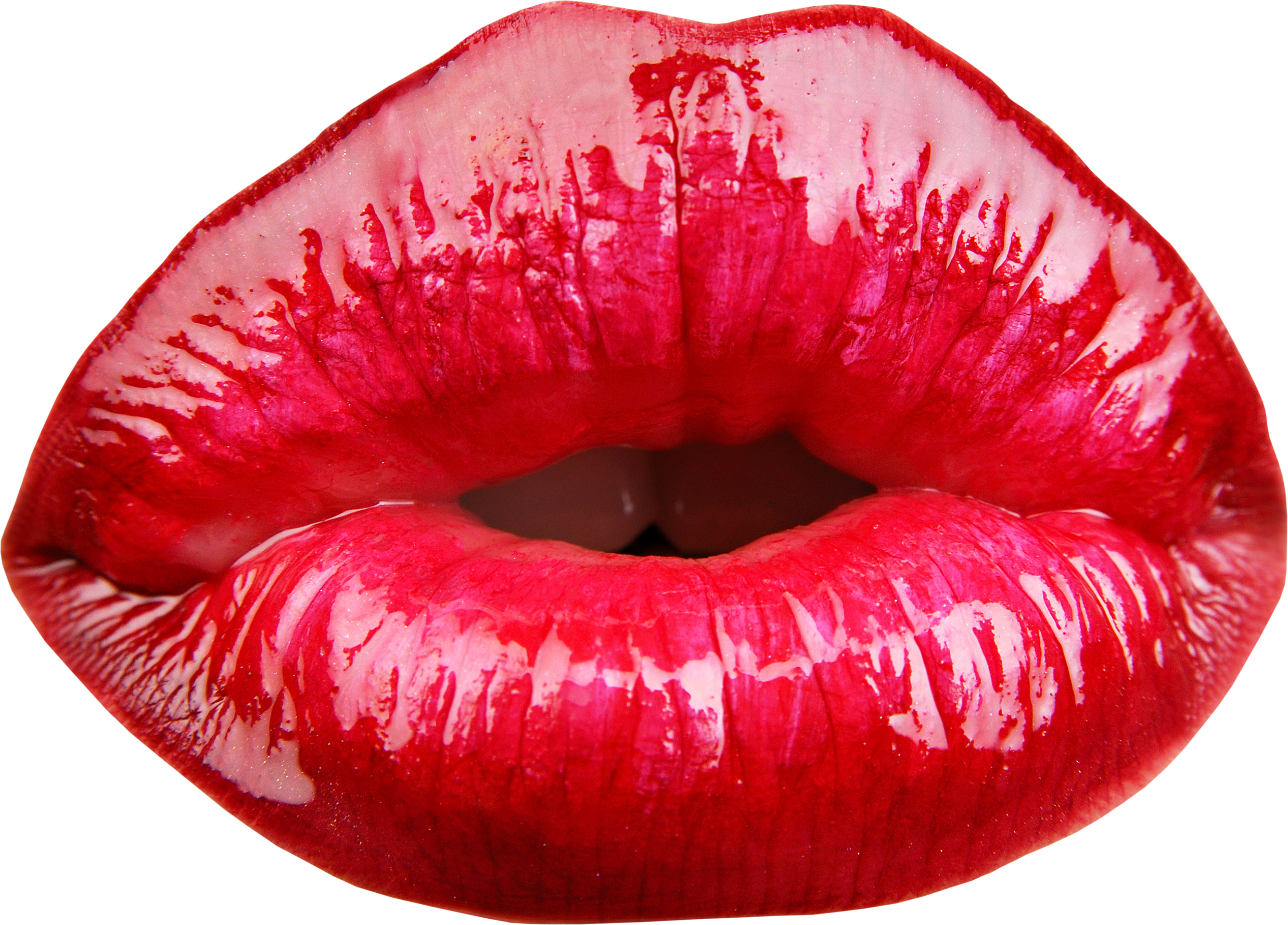 Red Lips PNG Image.