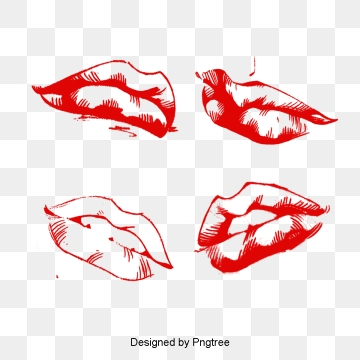 Silhouette Lips PNG Images.