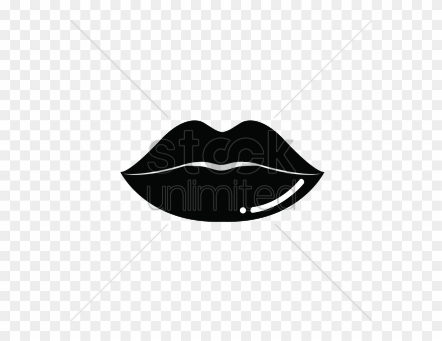 Black And White Lips Vector Png Clipart Clip Art.