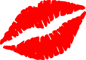 Red Lips Vector PNG, SVG Clip art for Web.
