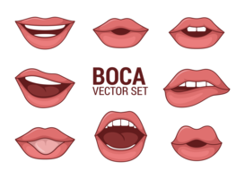 Lips Free Vector Art.